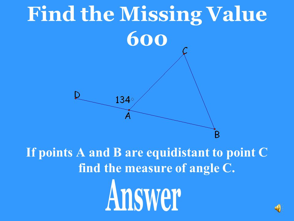 Find the Missing Value 600 Answer