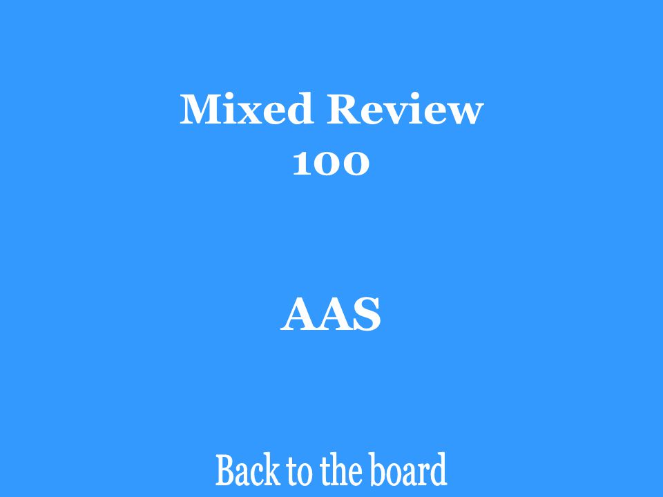 Mixed Review 100 AAS Back to the board