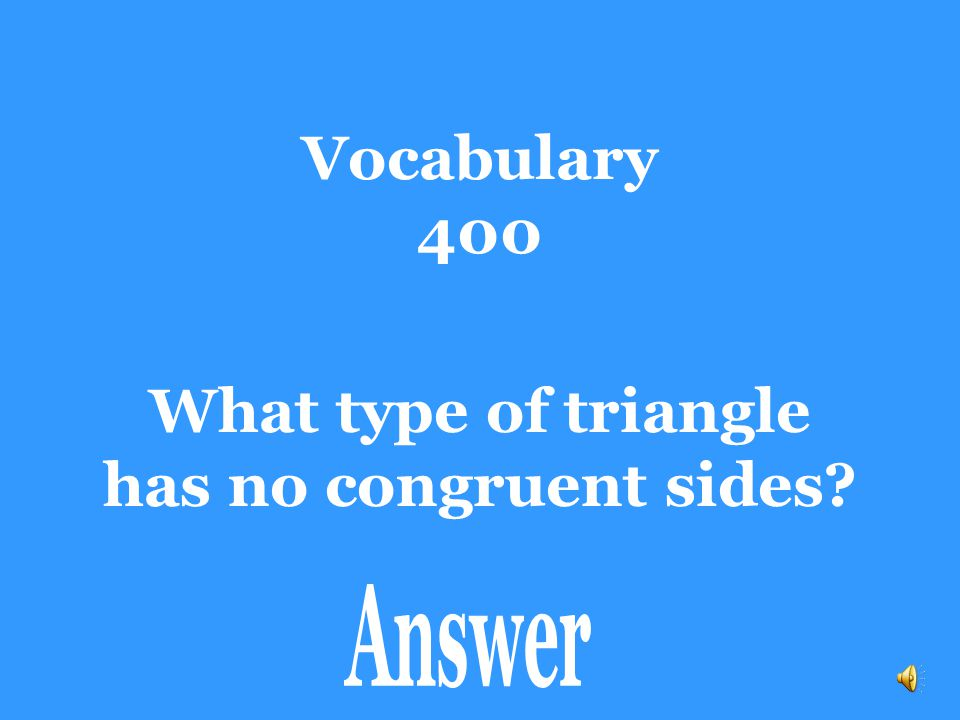 What type of triangle has no congruent sides