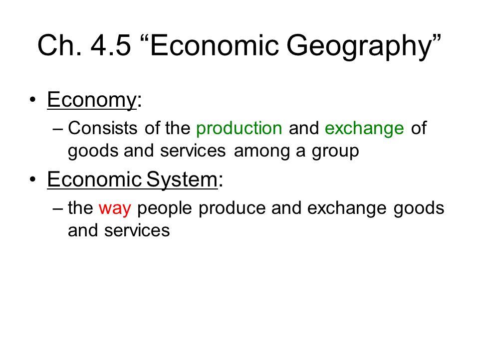 Ch. 4.5 Economic Geography