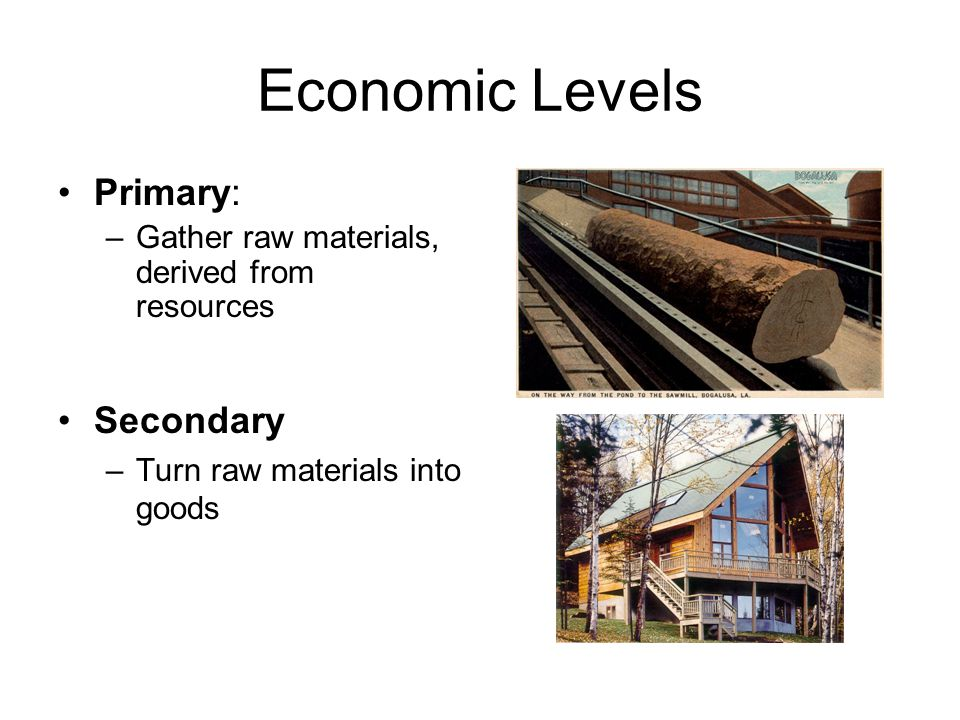 Economic Levels Primary: Secondary