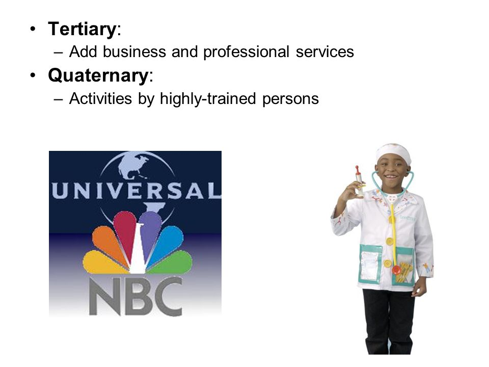 Tertiary: Quaternary: Add business and professional services