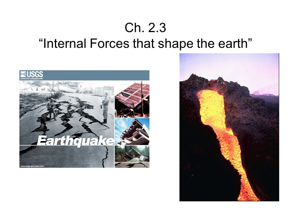 Ch. 2.3 Internal Forces that shape the earth