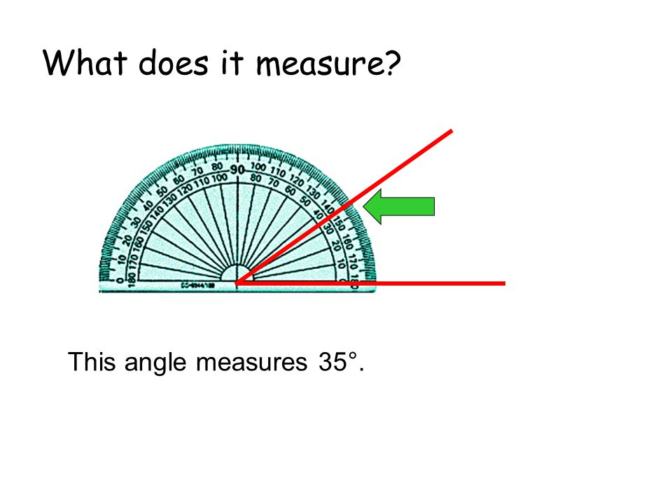 What does it measure This angle measures 35°.