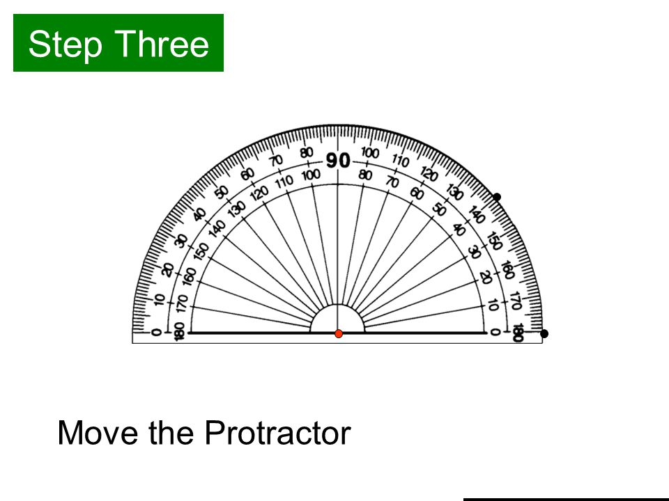Step Three Move the Protractor