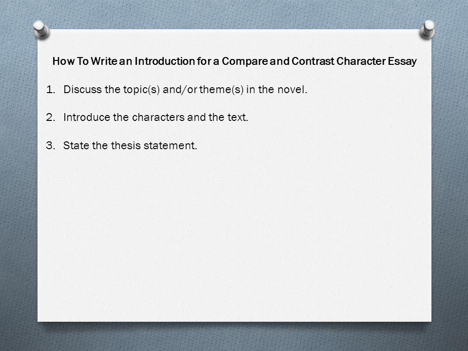 Writing an essay comparing tone