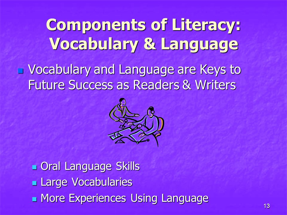 Components of Literacy: Vocabulary & Language