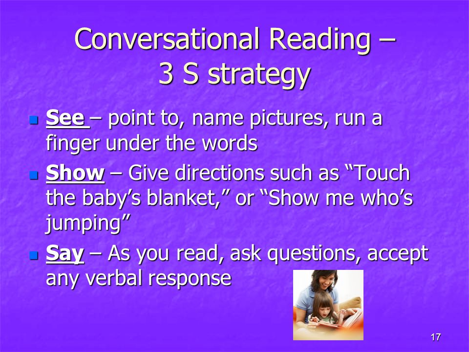 Conversational Reading – 3 S strategy