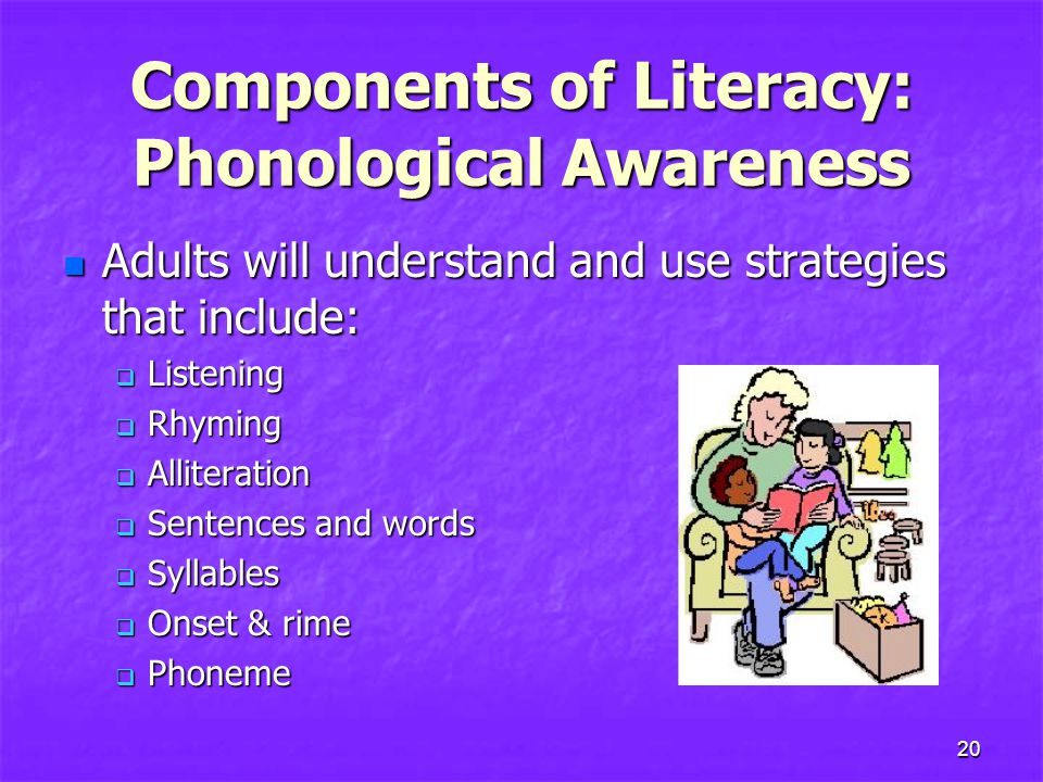 Components of Literacy: Phonological Awareness