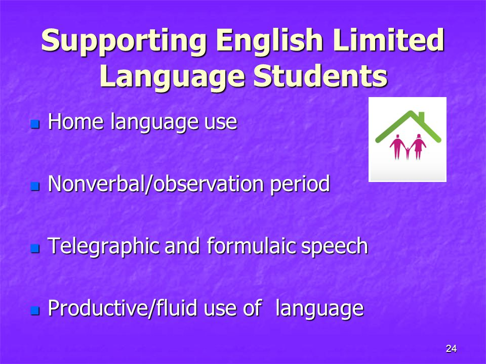 Supporting English Limited Language Students