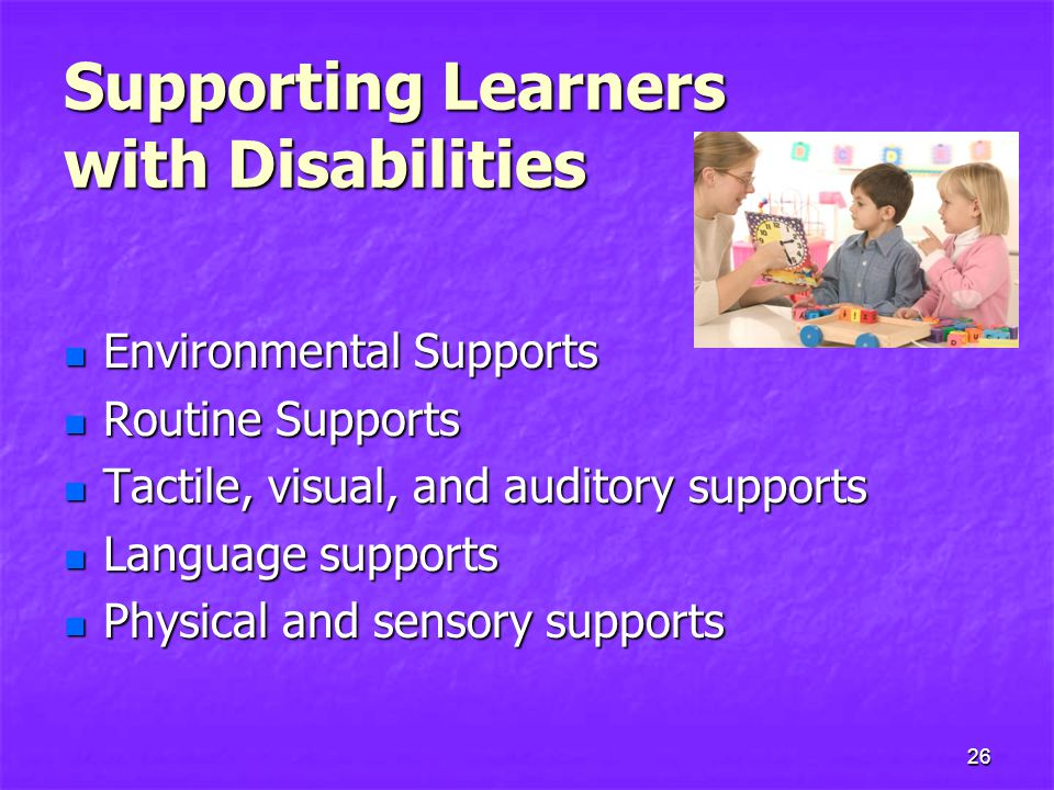 Supporting Learners with Disabilities