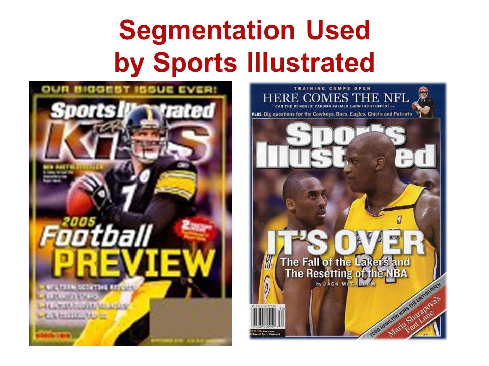 Segmentation Used by Sports Illustrated