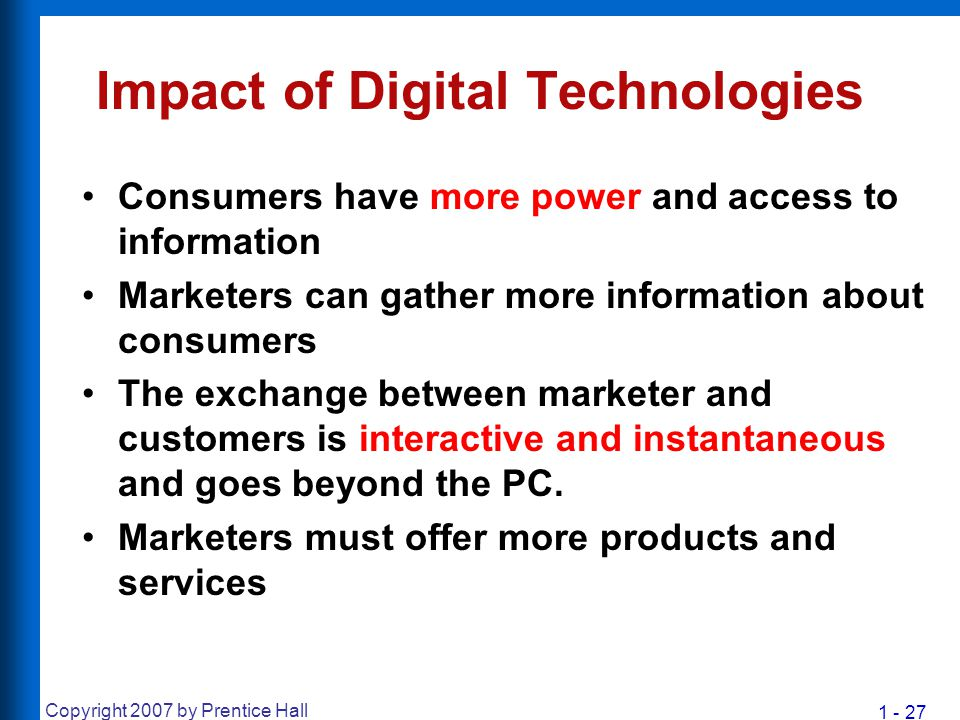 Impact of Digital Technologies