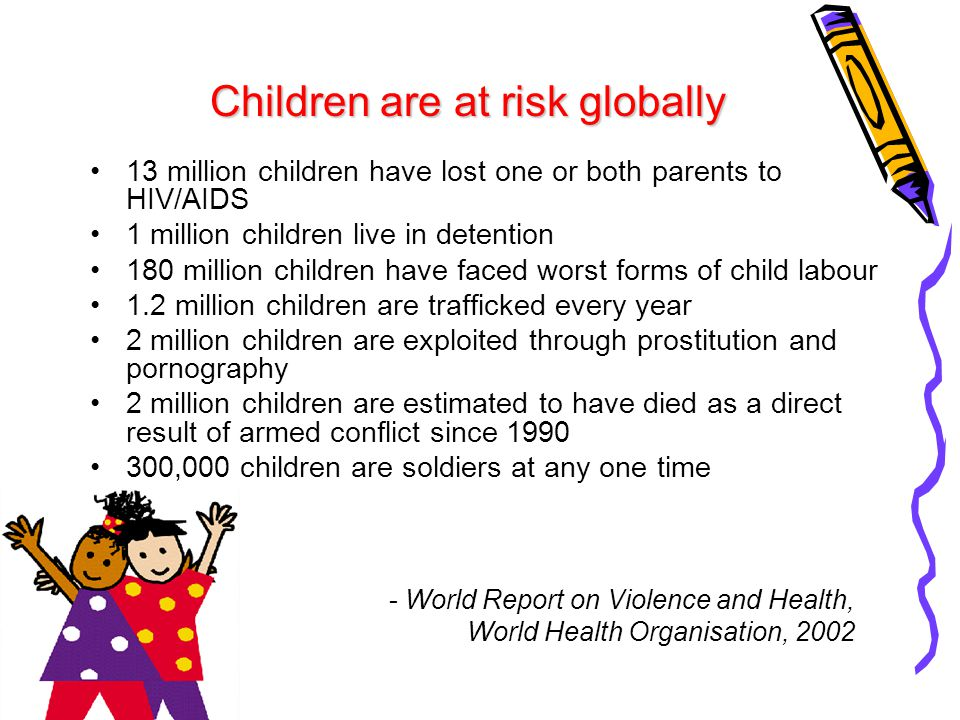 Children are at risk globally