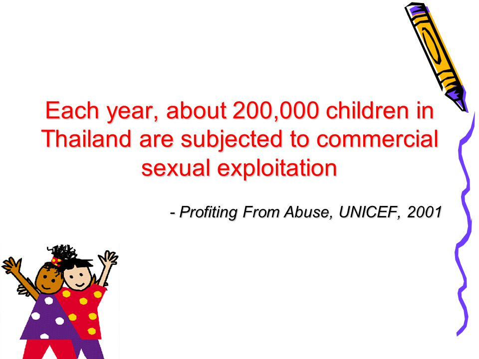 - Profiting From Abuse, UNICEF, 2001