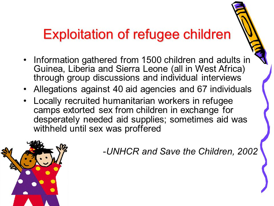 Exploitation of refugee children