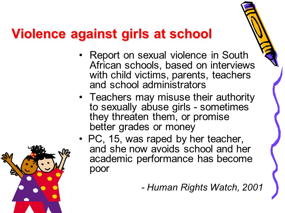 Violence against girls at school