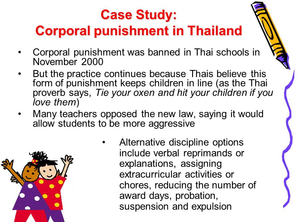 Case Study: Corporal punishment in Thailand