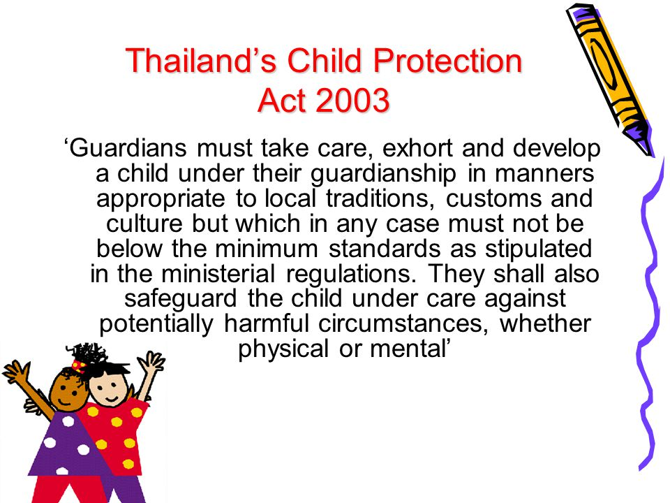 Thailand's Child Protection Act 2003