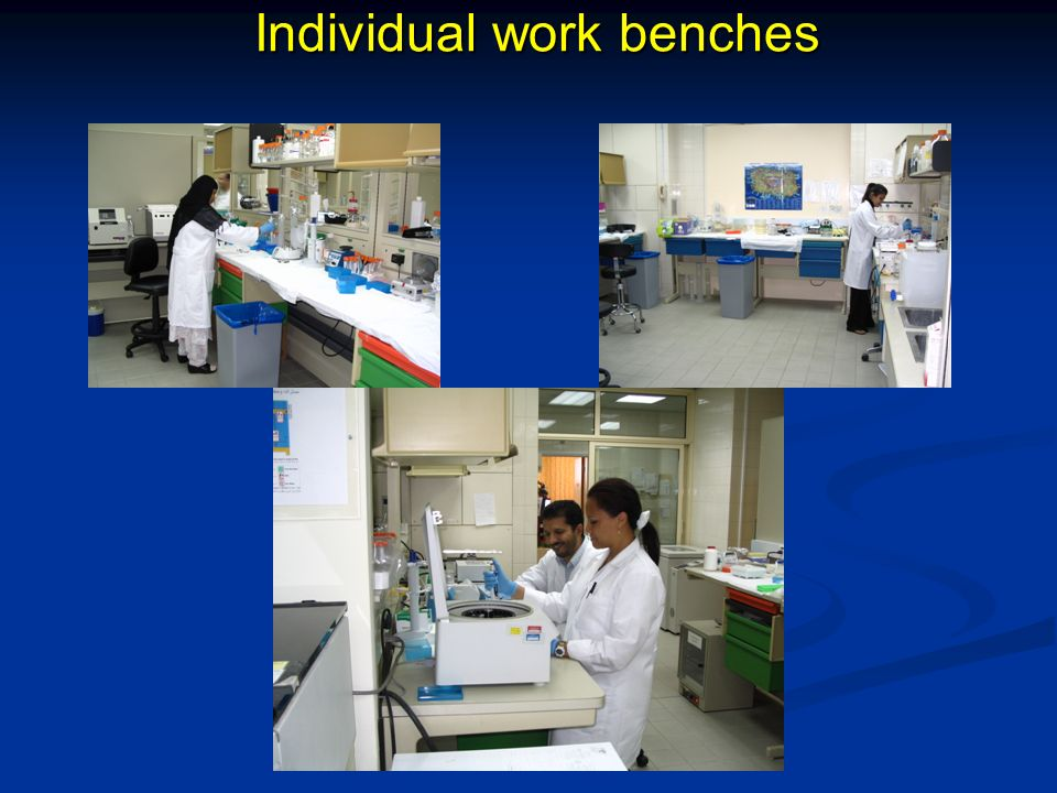 Individual work benches