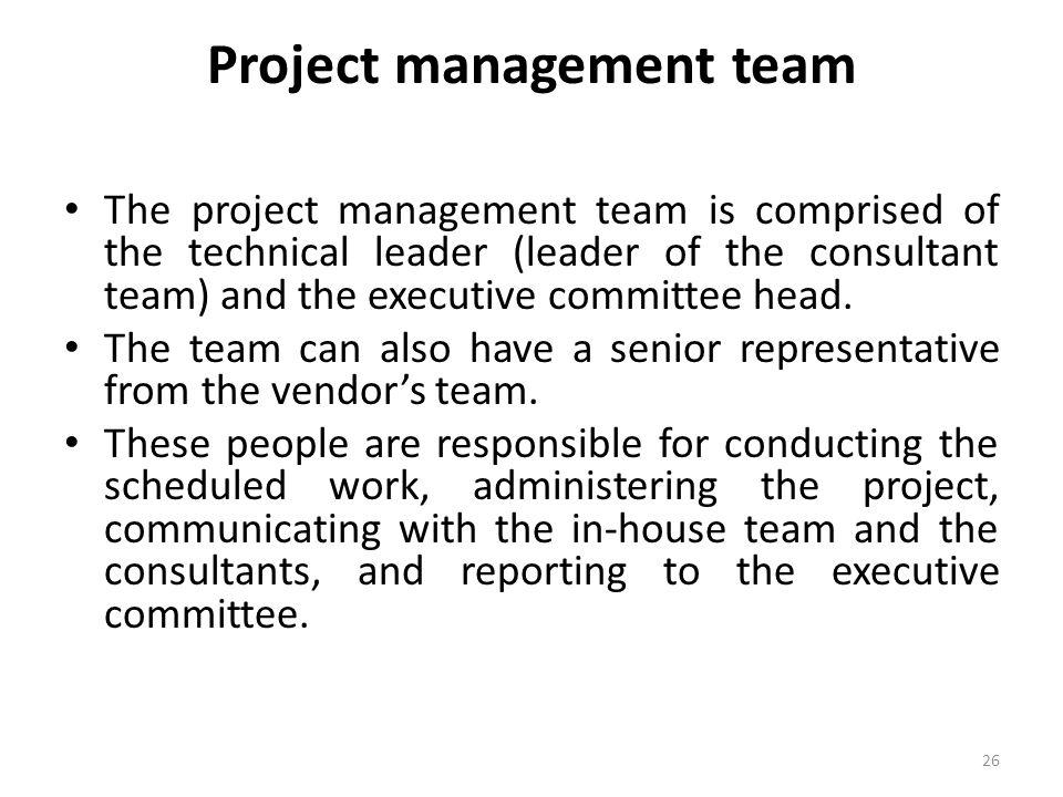 Project management team