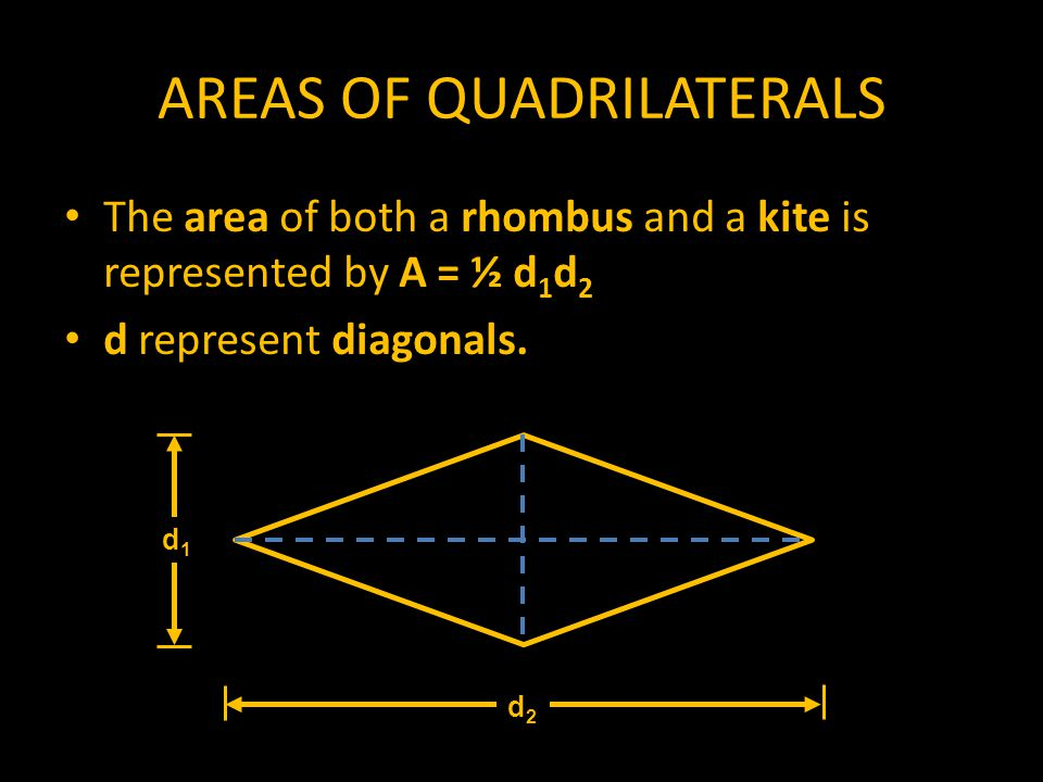 AREAS OF QUADRILATERALS