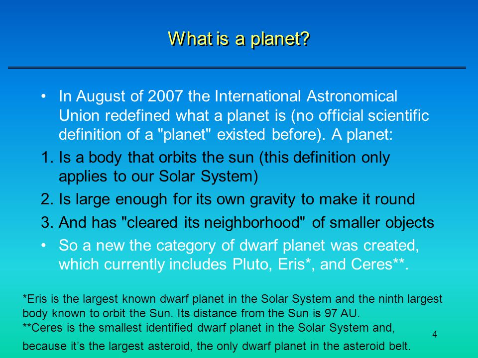 What is a planet
