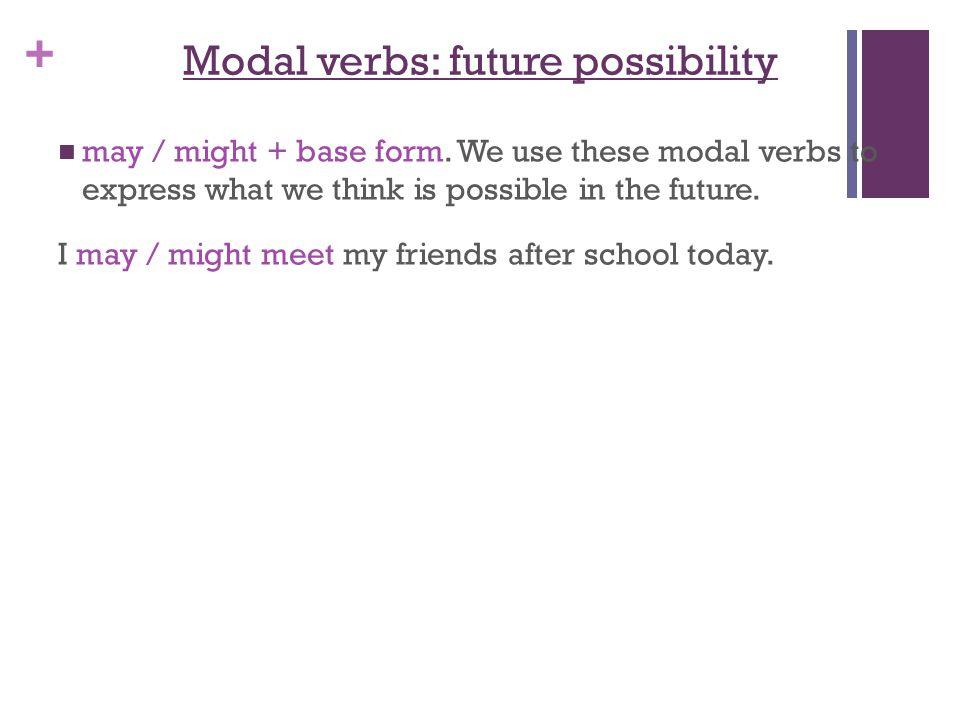 Modal verbs: future possibility