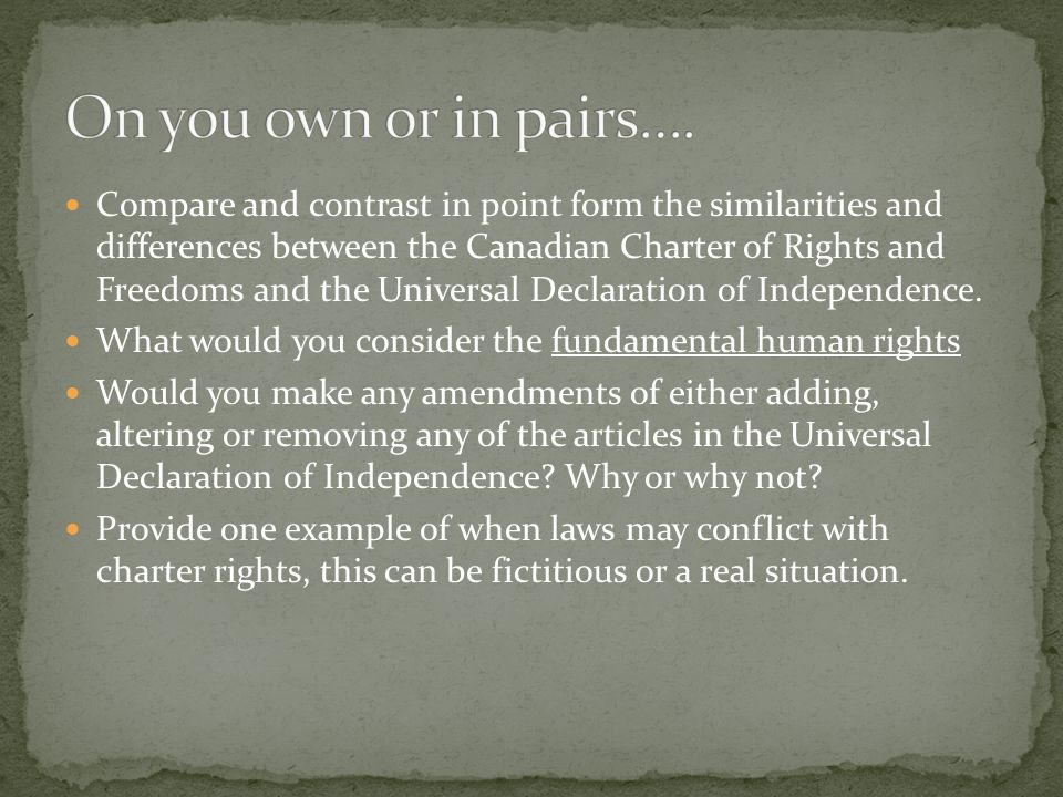 On you own or in pairs….