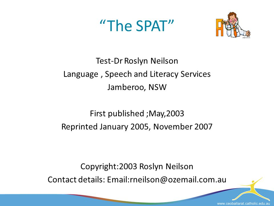 The SPAT Test-Dr Roslyn Neilson