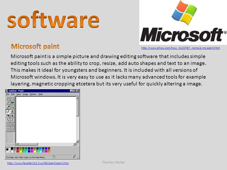software Microsoft paint