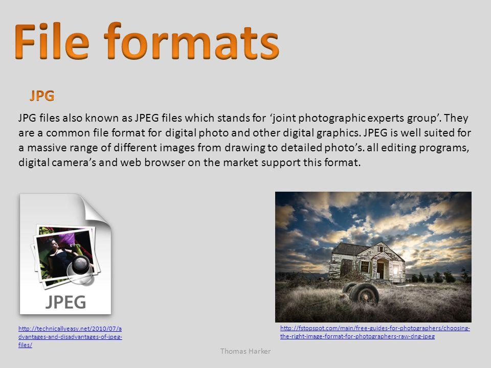 File formats JPG.