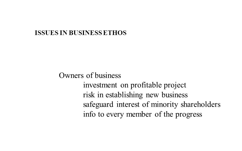investment on profitable project risk in establishing new business