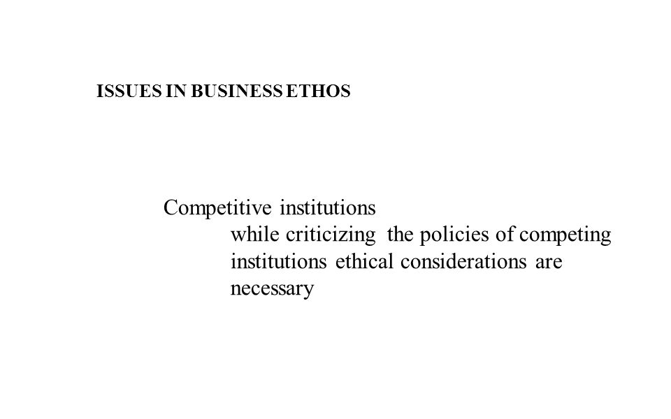 Competitive institutions