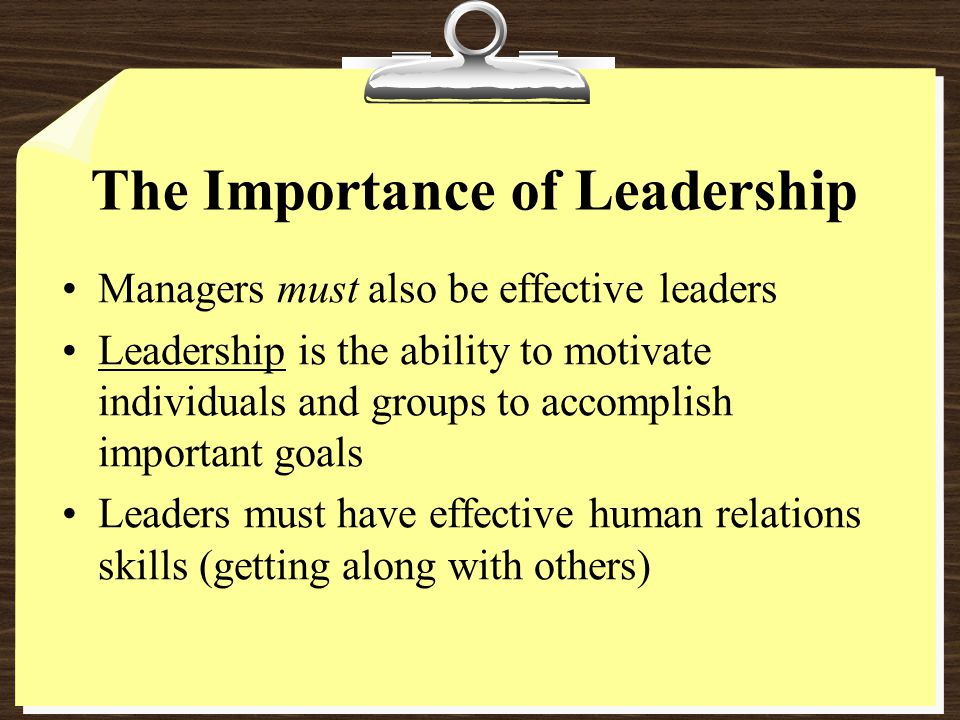 the importance of character for being an effective leader