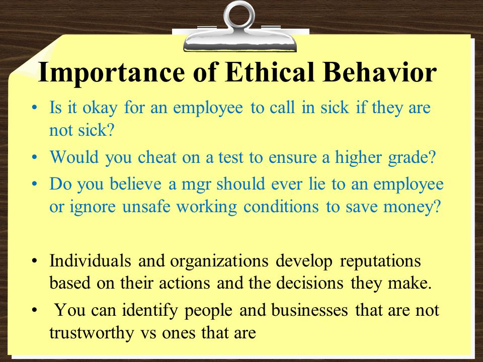 The importance of ethical leaders essay