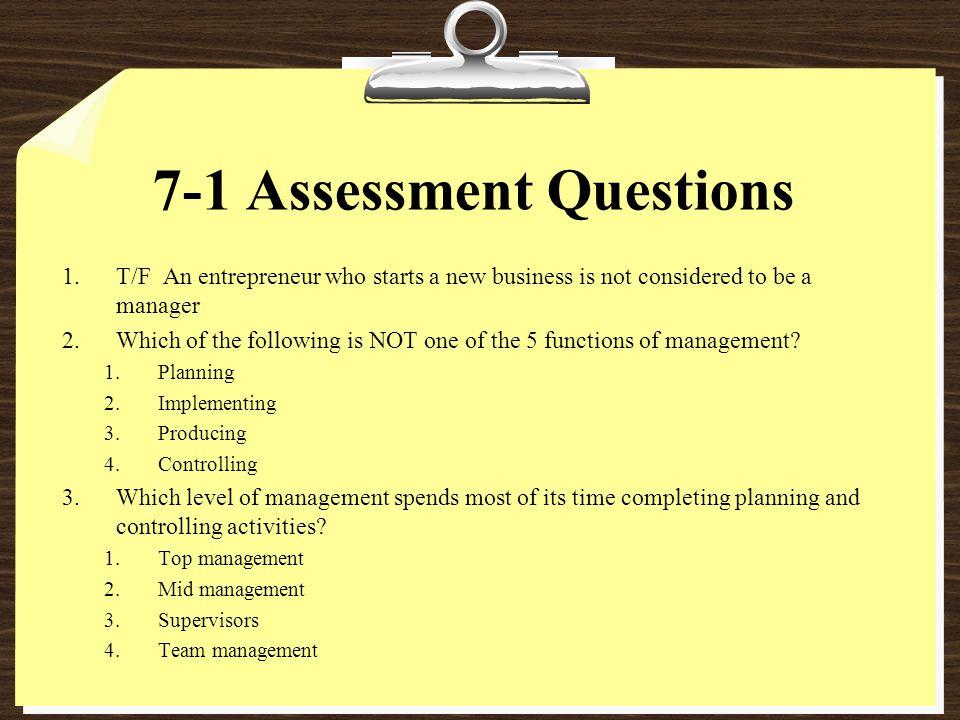 7-1 Assessment Questions