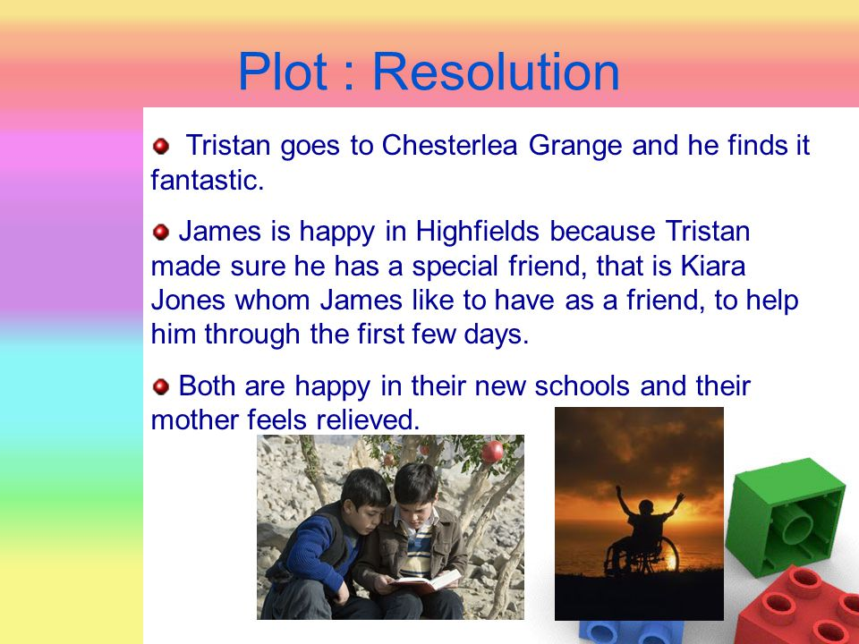 Plot : Resolution Tristan goes to Chesterlea Grange and he finds it fantastic.