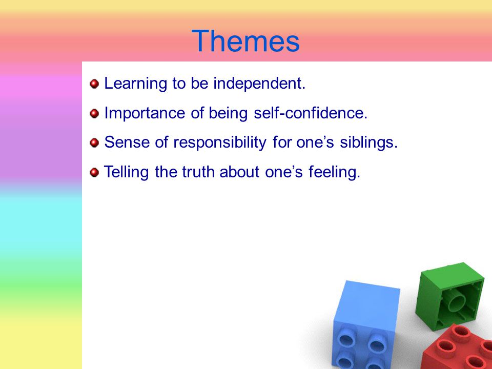 Themes Learning to be independent.