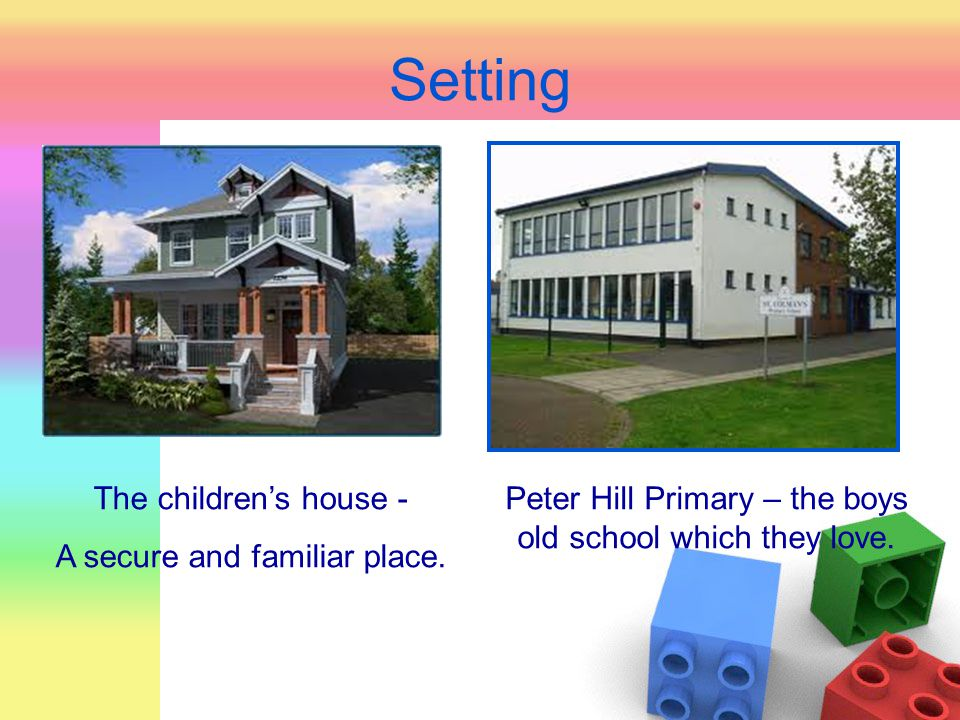 Setting The children's house - A secure and familiar place.