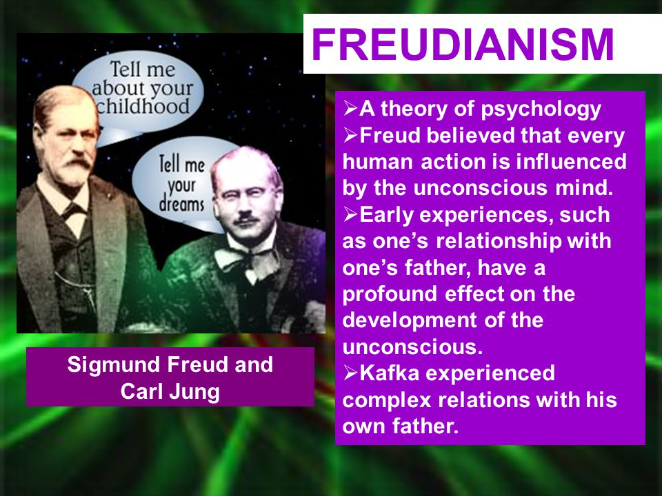 FREUDIANISM A theory of psychology