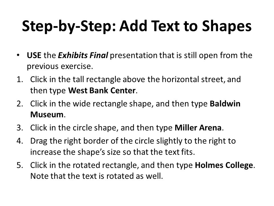 Step-by-Step: Add Text to Shapes