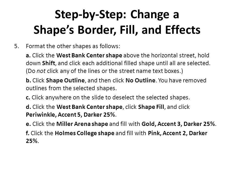 Step-by-Step: Change a Shape's Border, Fill, and Effects