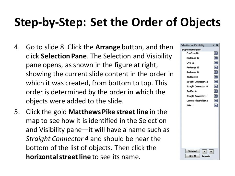 Step-by-Step: Set the Order of Objects