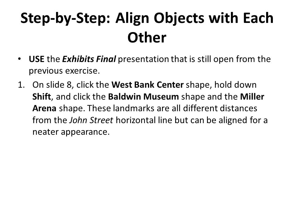 Step-by-Step: Align Objects with Each Other