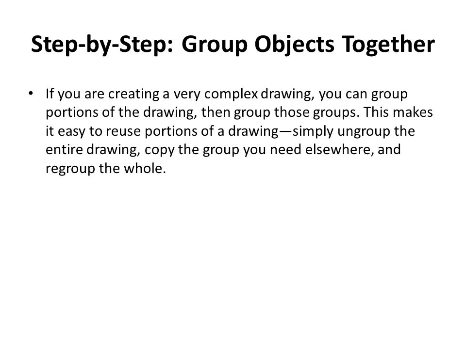 Step-by-Step: Group Objects Together