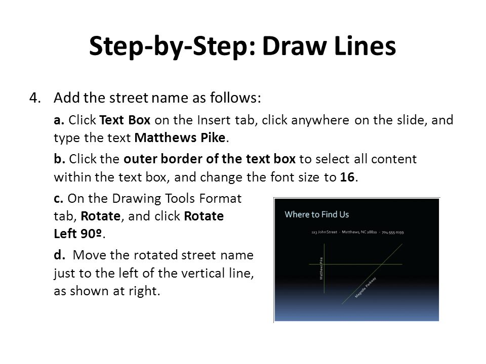 Step-by-Step: Draw Lines
