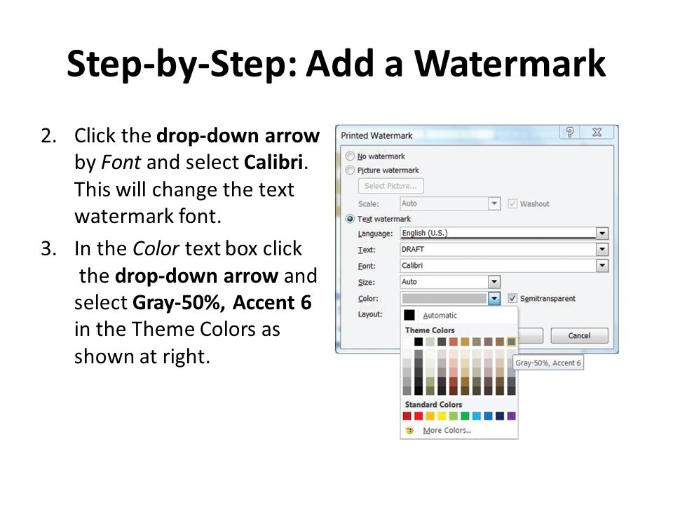 Step-by-Step: Add a Watermark