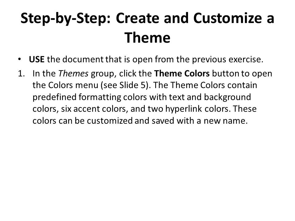 Step-by-Step: Create and Customize a Theme