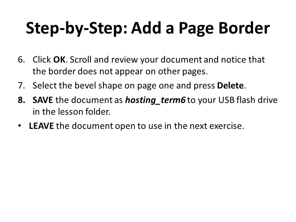 Step-by-Step: Add a Page Border
